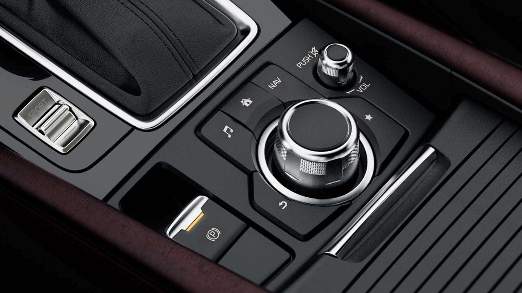 mazda 3 hatchback center console